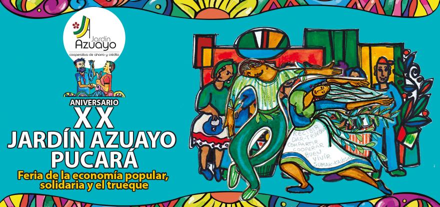 Feria de la economía popular, solidaria y el trueque Jardín Azuayo Pucará