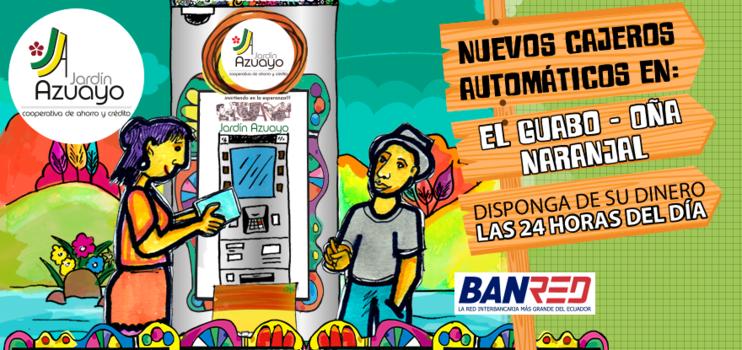 Nuevos Cajeros Automáticos en ElGuabo, Oña y Naranjal