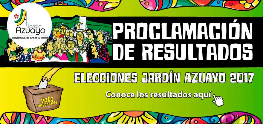 Proclamación de resultados - Elecciones Jardín Azuayo 2017