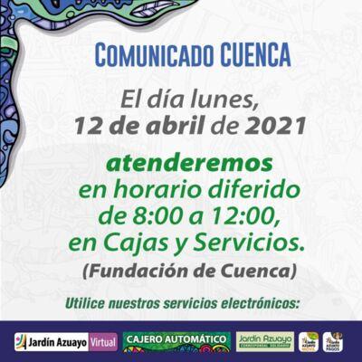 Atención en Cuenca por feriado local.