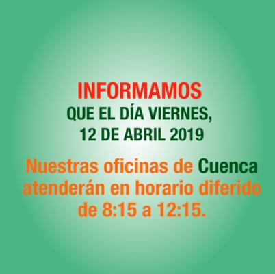 Horario diferido por Fundación de Cuenca