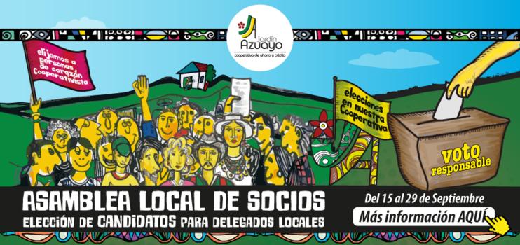 Consulta el lugar, fecha y hora de tú Asamblea Local de Socios Jardín Azuayo 2017